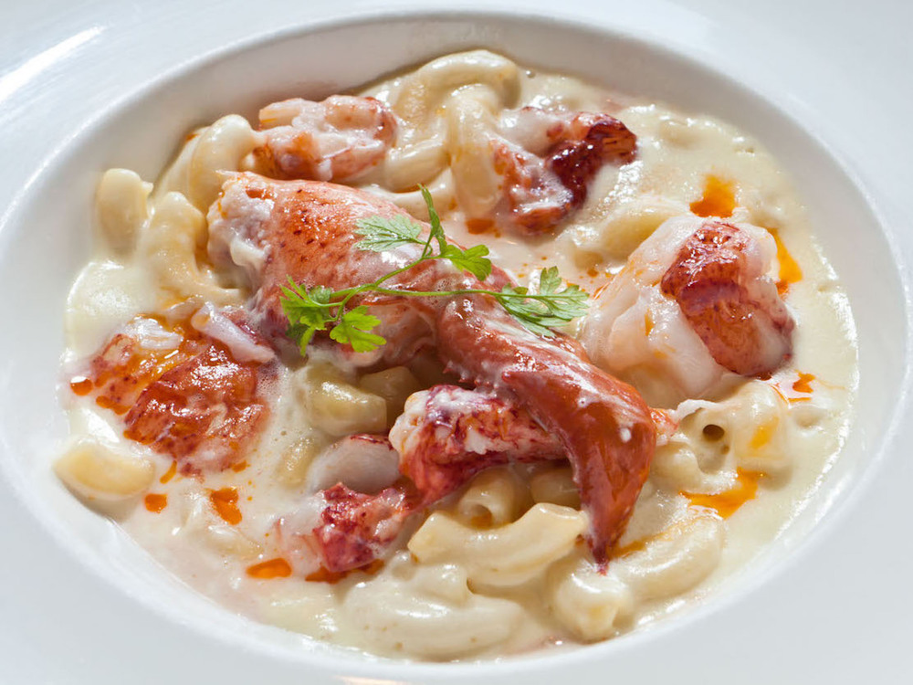 LOBSTER MAC & CHEESE     3-Cheese Blend with Goldwater Lobster Tail Meat.