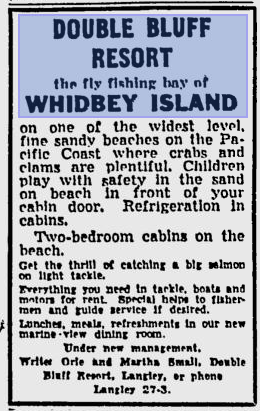 Spokane Daily Chronicle - Double Bluff Resort - May 12, 1955.png