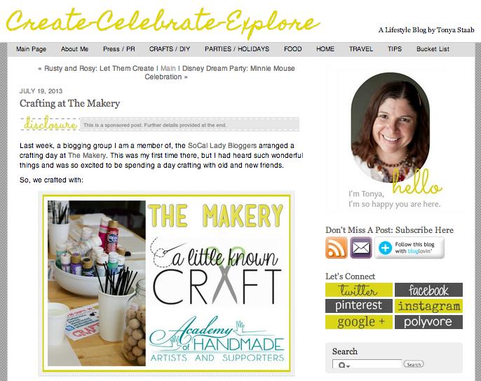 Create Celebrate Explore