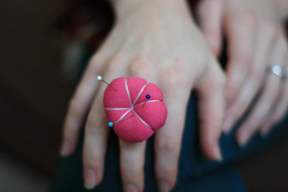BEFORE: Pincushion Ring