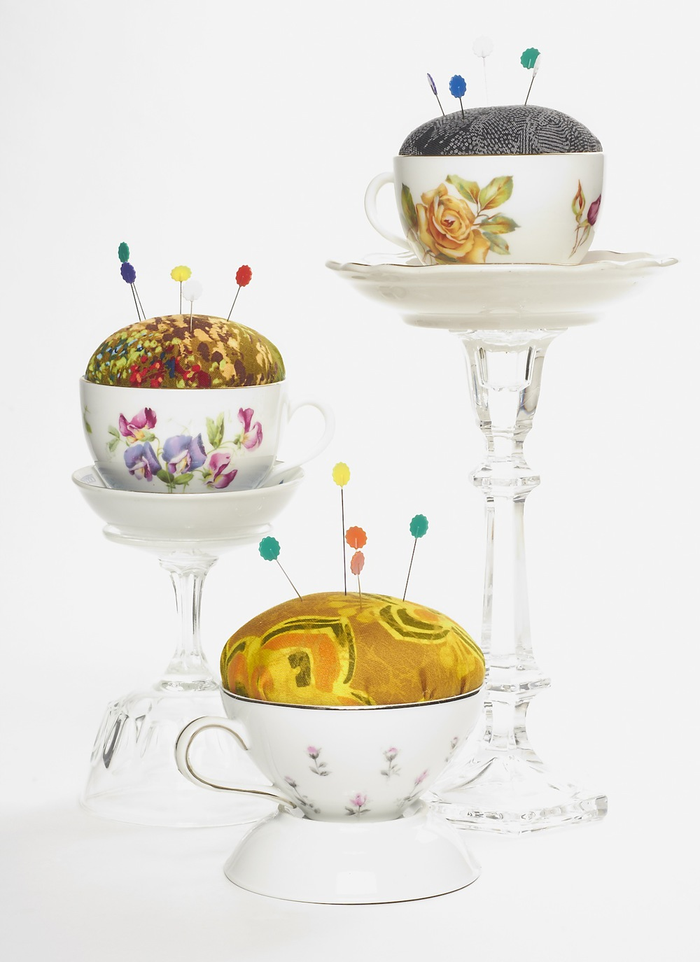 AFTER: Tea Cup Pincushions