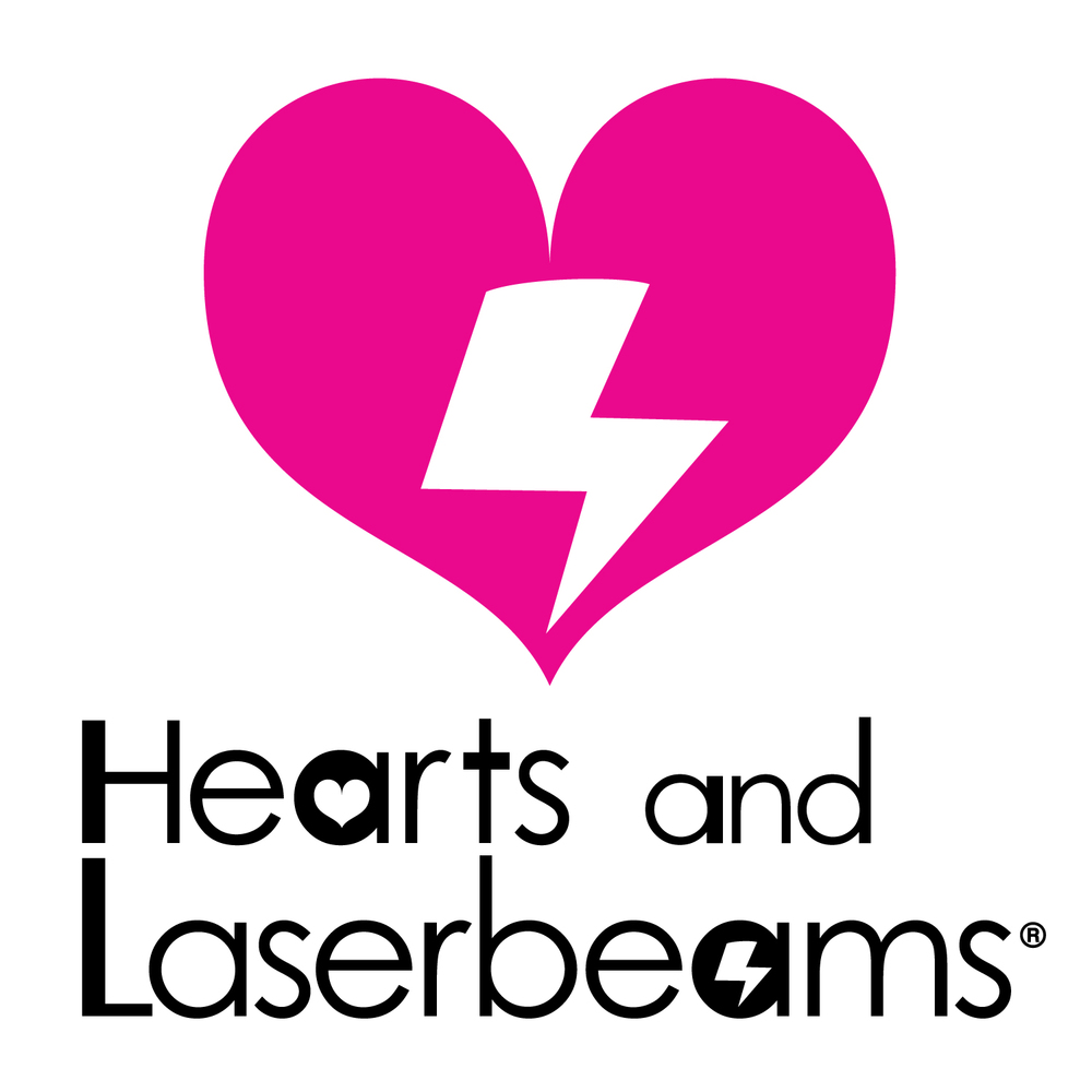 hearts and laserbeams