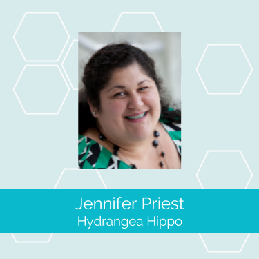 "Blogging before ""blogger"" was a job title, Jennifer Priest documents her craft adventures at Hydrangea Hippo and has recently begun offering her social media services to brands in the craft industry through Rainmaker Media Works."