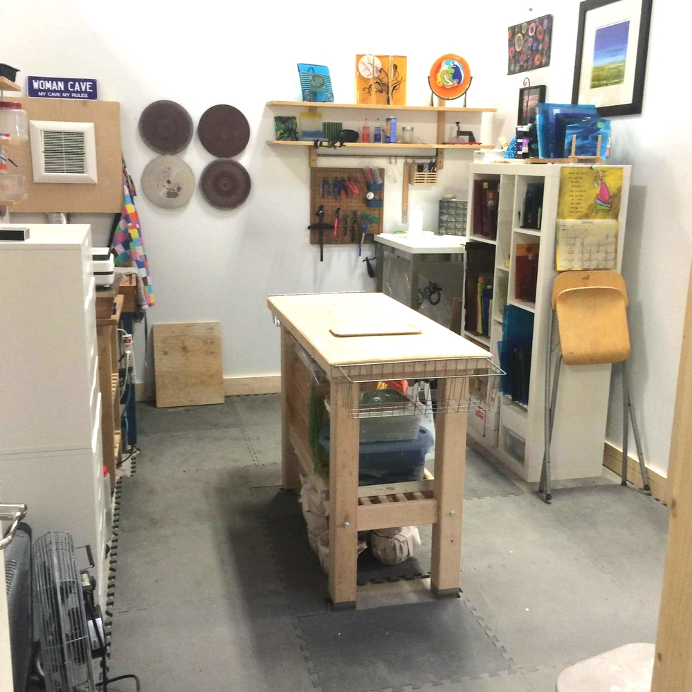 New Berkeley studio space of  Marja Huhta of Glass Elements {AHAS member}