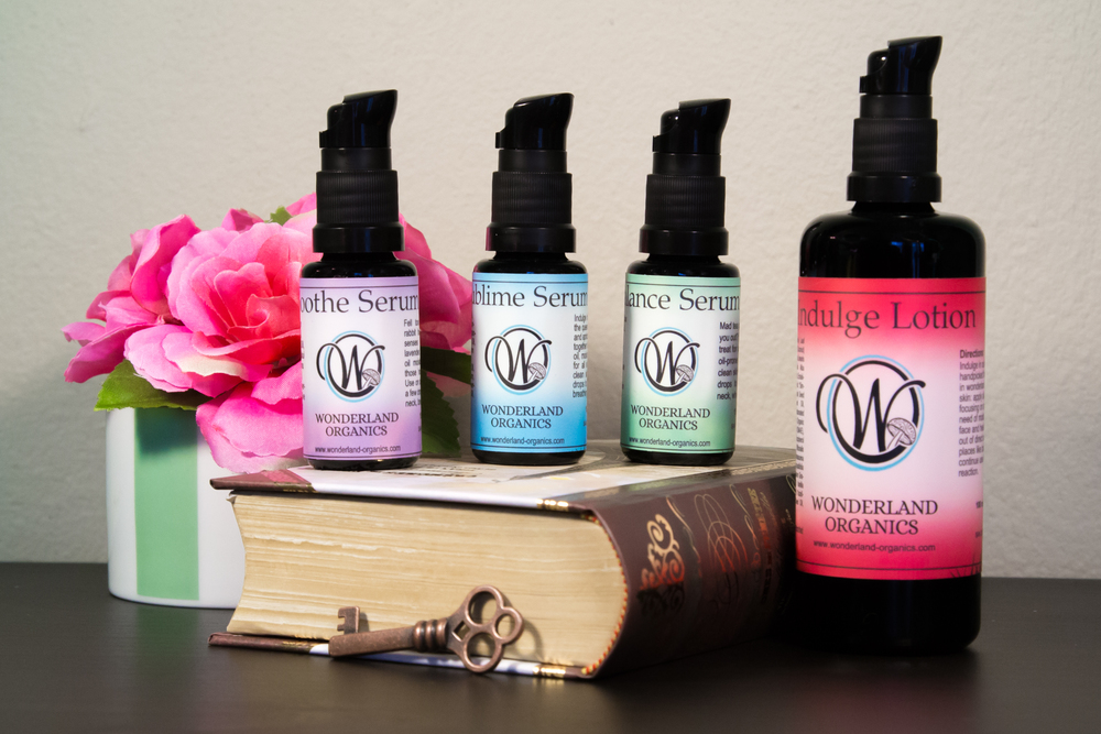 Wonderland Organics facial oils and lotion