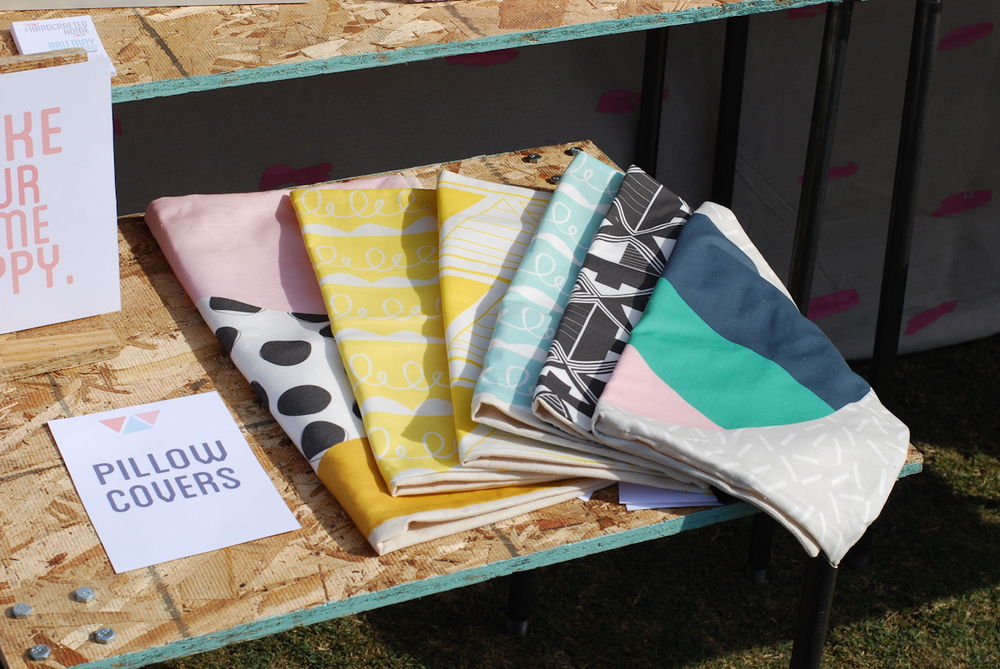 These pillow cases by A Handcrafted Home are beautiful, but without the sign it would be hard to know what they are!