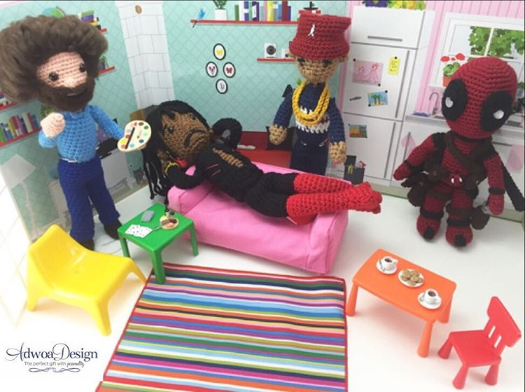 The party is going on over at Adwoa's Instagram. She makes the best scenes for her creations.