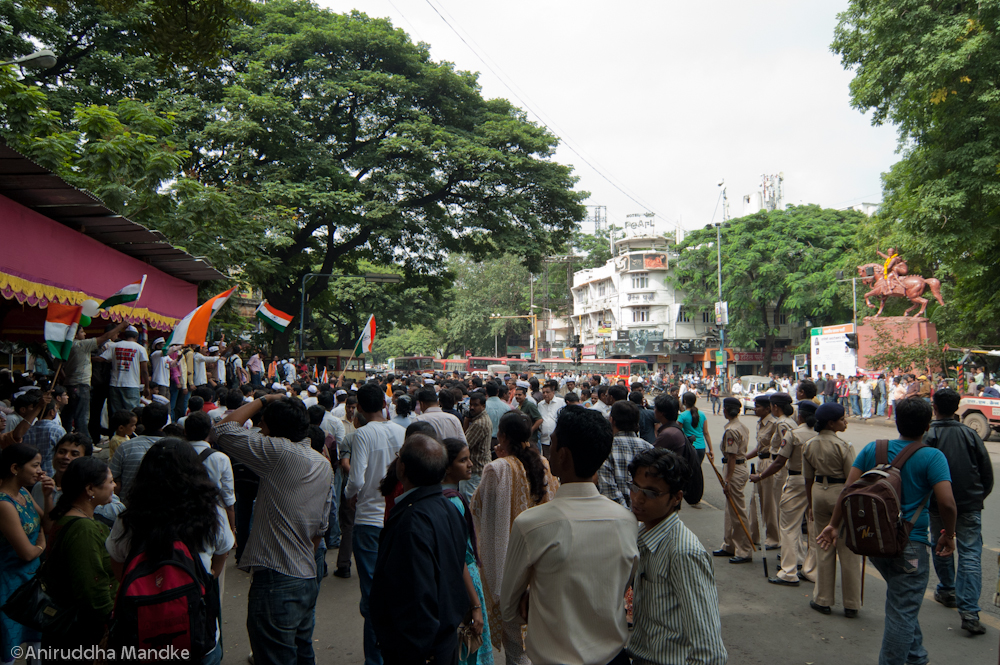 Where is my Mahatma? - Protests in Pune on 16.08.2011