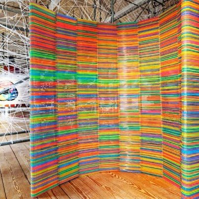 This room devider is made from Ikea hangers. So if u need a smart solution for your office or home just look what hangers you have left and get out there and create.