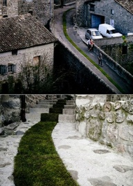 This green carpet project in France is a great idea to get more green into our cities.