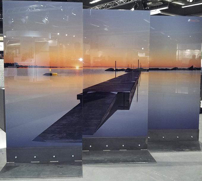 Digitaltryck på glas, användning som arkitektoniska detaliej