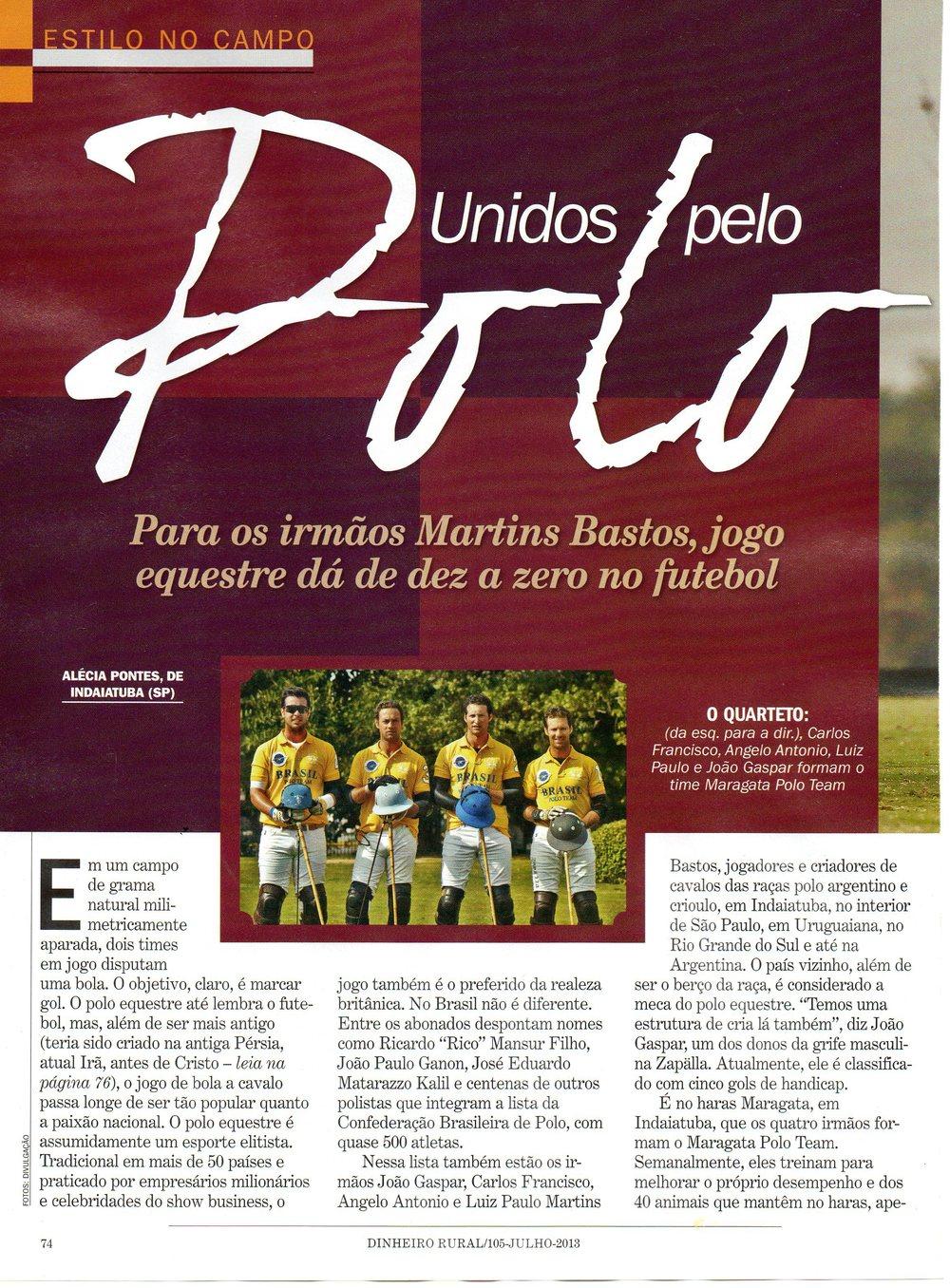 Revista Dinheiro Rural - 07/2013