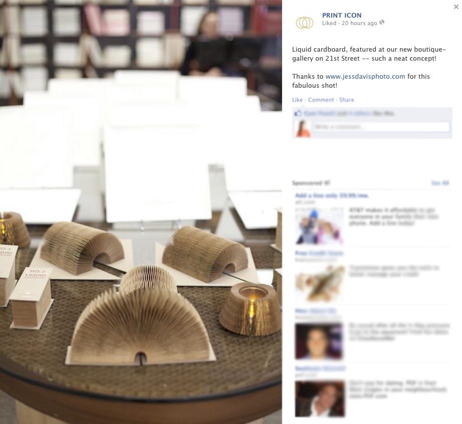 Print Icon event facebook pull