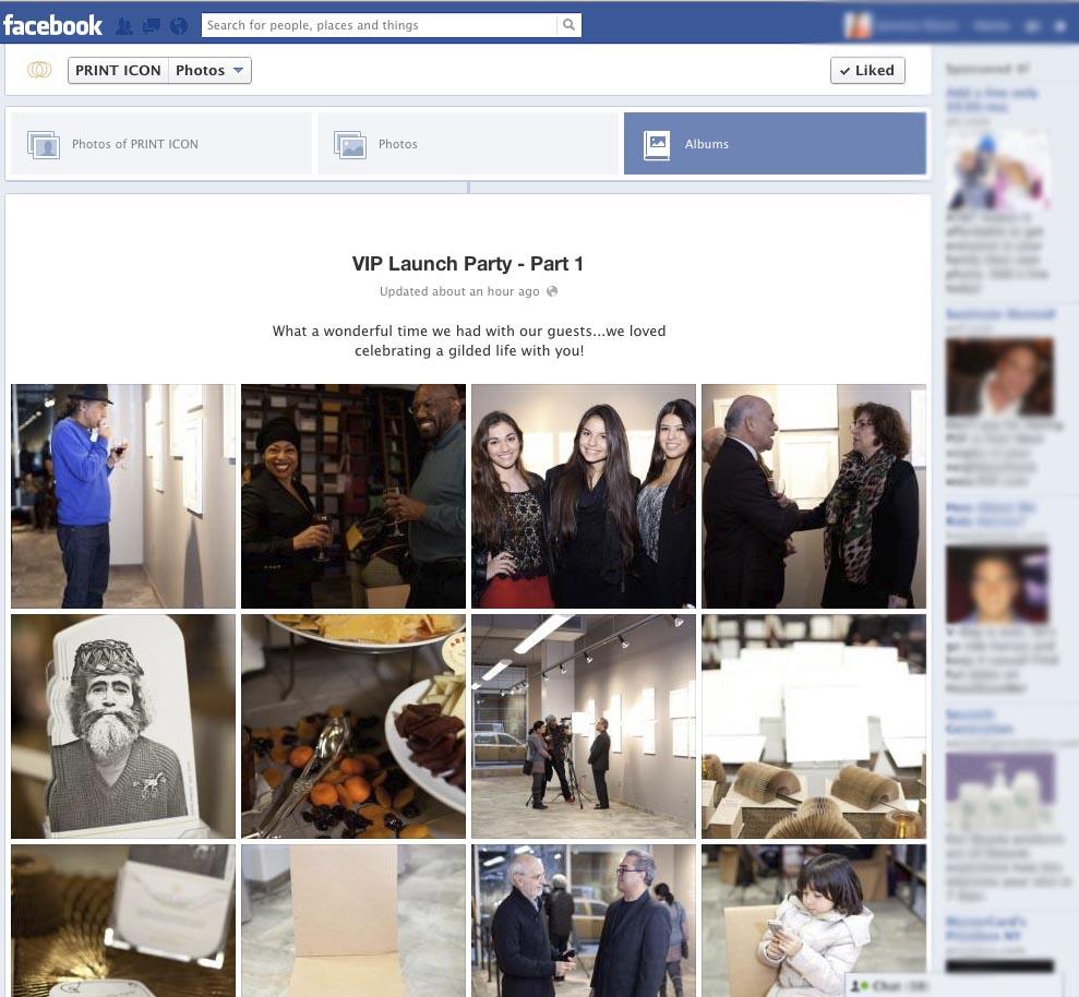 print icon event facebook album page