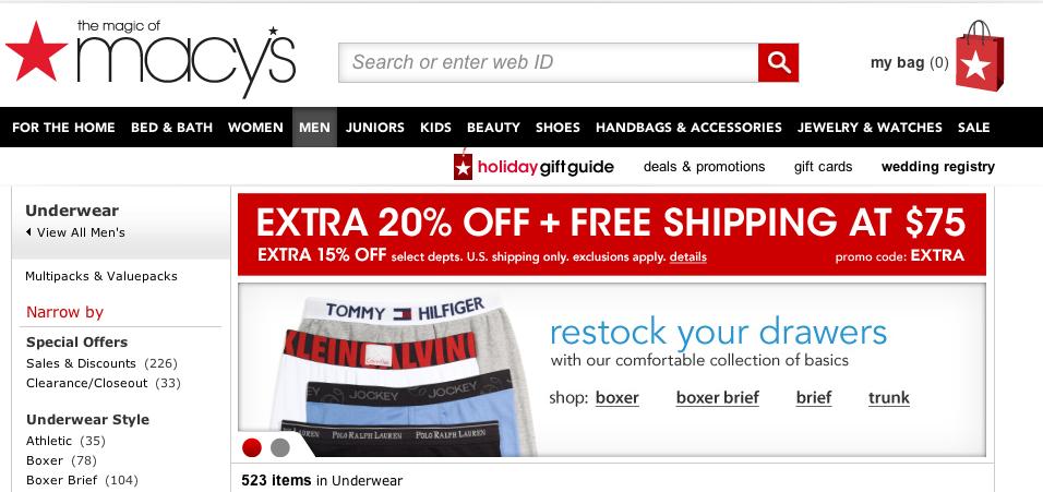 macys.com , mens underwear.