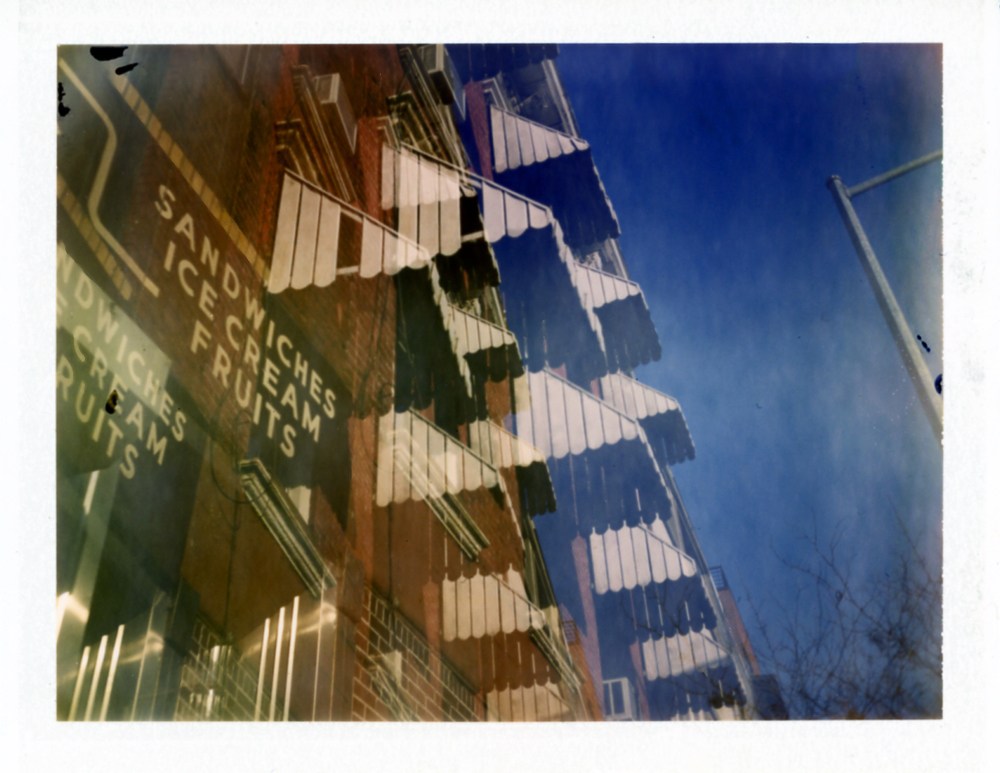 double exposure. Windows bushwick, brooklyn