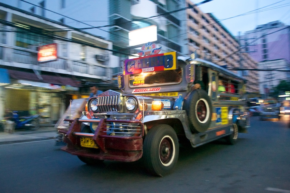 It's very American and it's sometimes scary - it's Manila