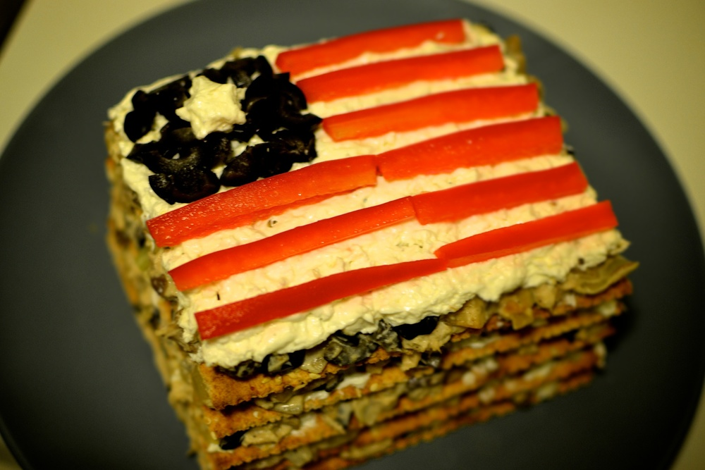 Tuna and mushroom cake (election day)