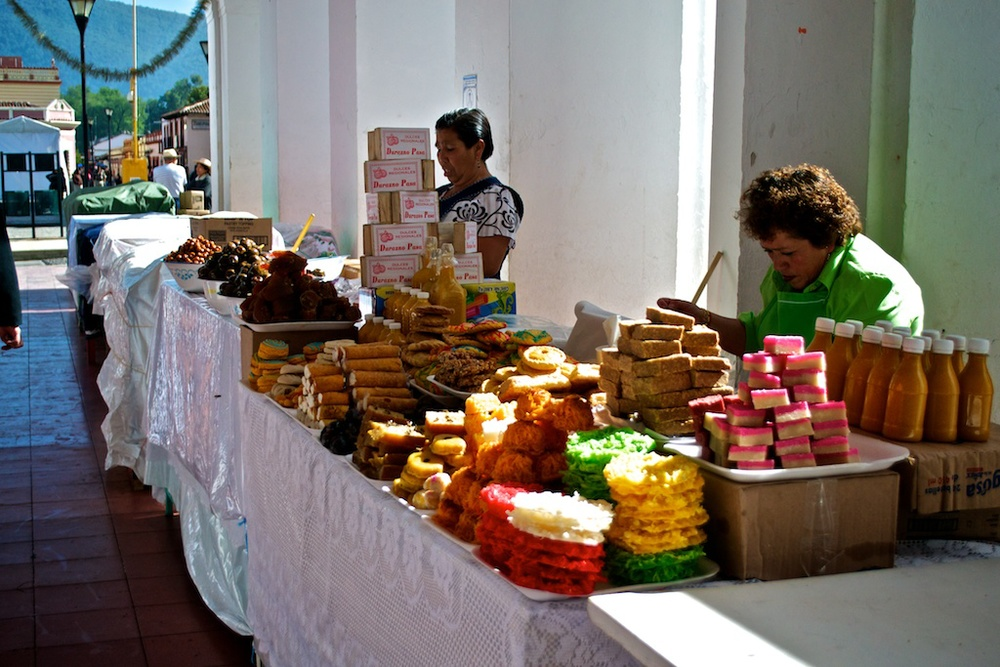 Sweets vendors on the main square