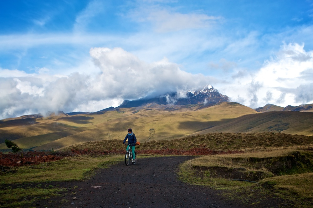 Mountain biking in Ecuador