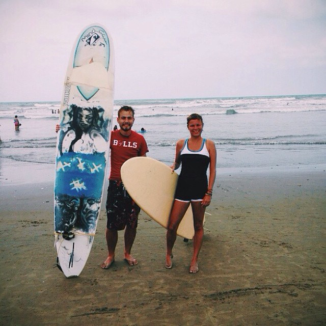 Surfing in Ecuador