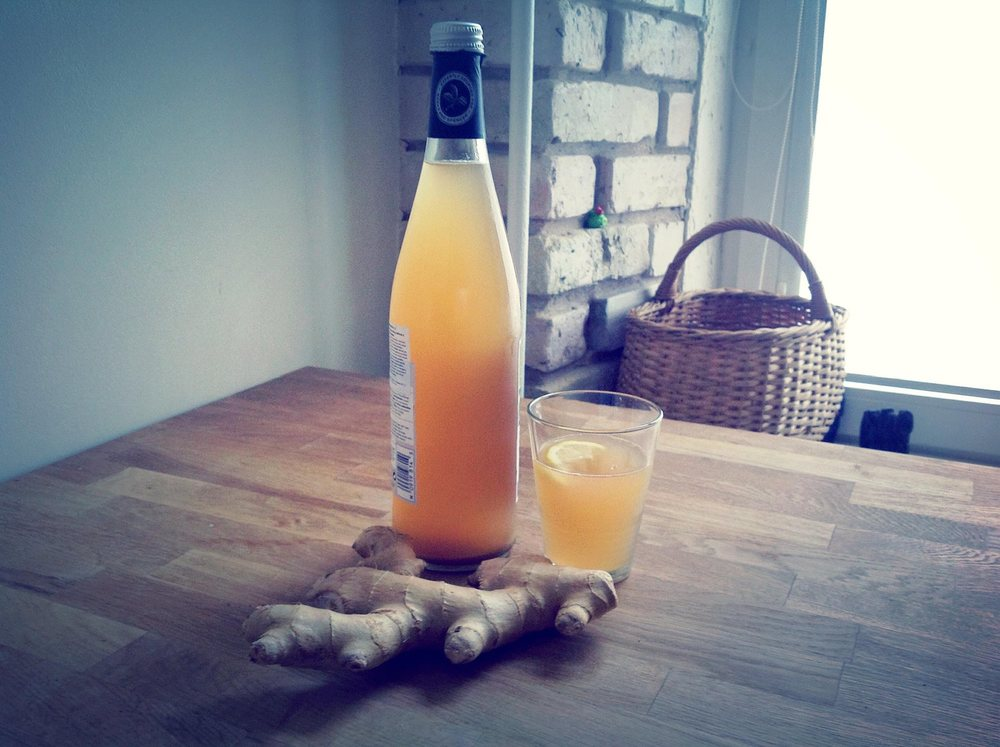 Home brewed ginger root beer