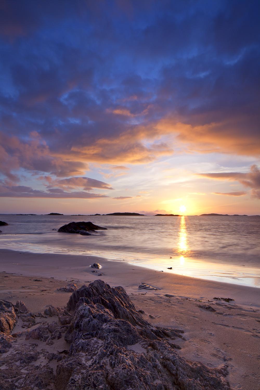 Sunset on Glassillaun Beach