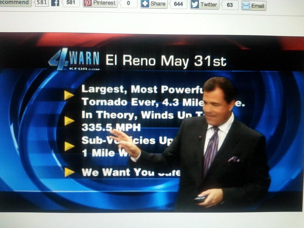 New Reports on El, Reno Tornado just released