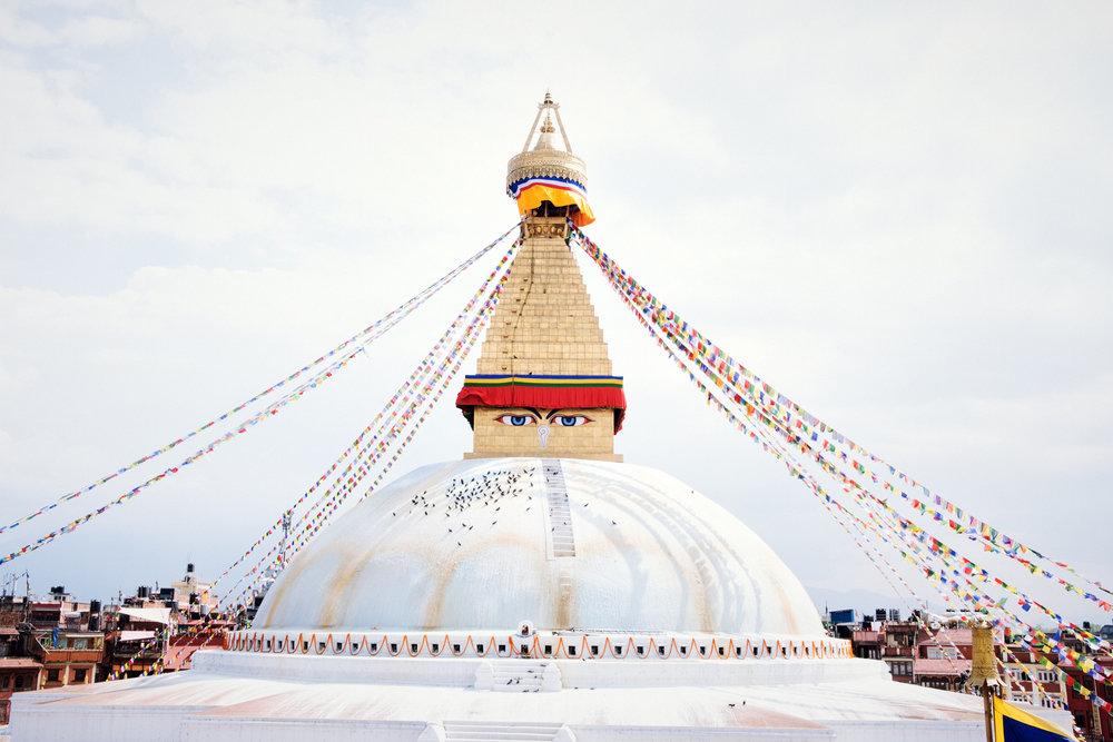 The Boudhanath Stupa in Bodhnath