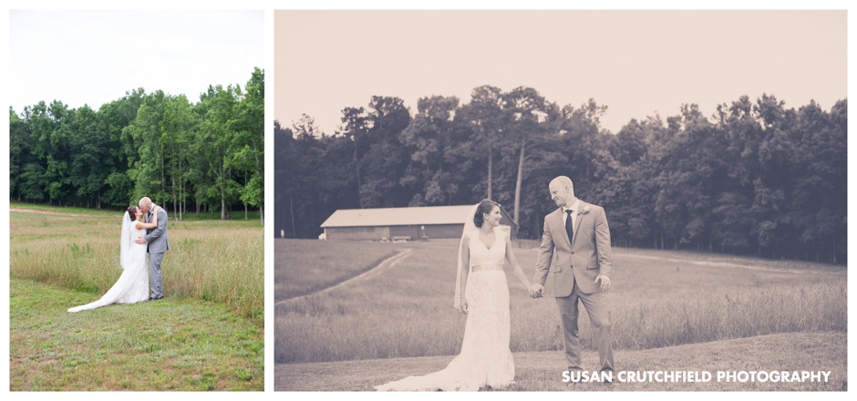 Barn Wedding Bride and Groom Portrait