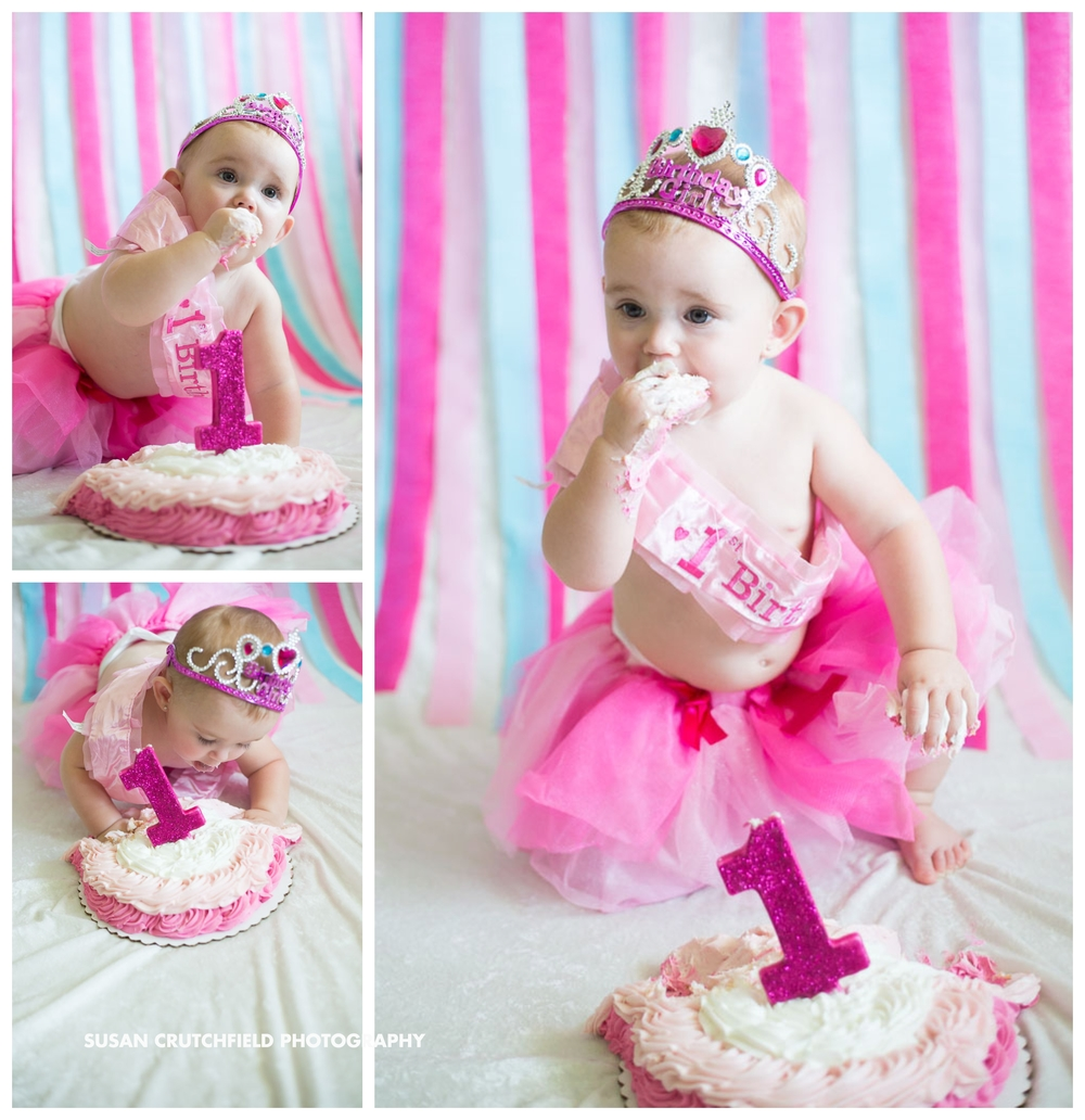 One Year Cake Smash Photography