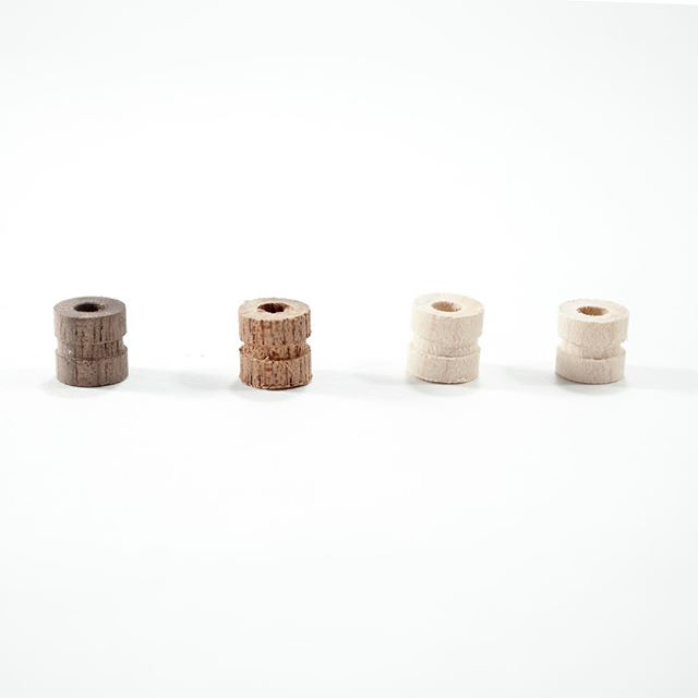 Axle replacement packs are available now through the link in our bio. Includes two maple, one mahogany and one walnut.