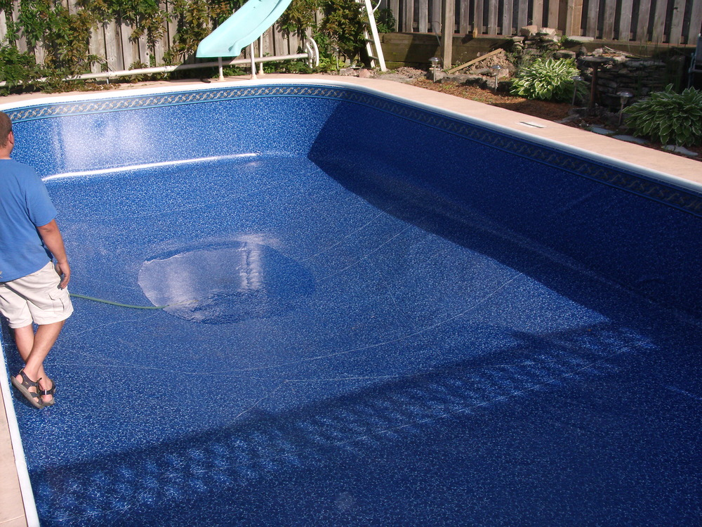 how to fix a leak in a pool liner