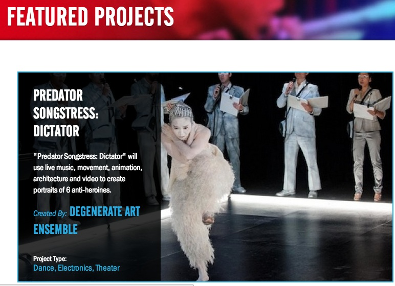 We are totally psyched to head up the featured projects page on their website!!!