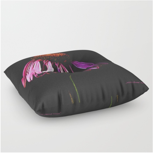 Purple Cone Flower Floor Pillow — Jessica Kimmel Manelis