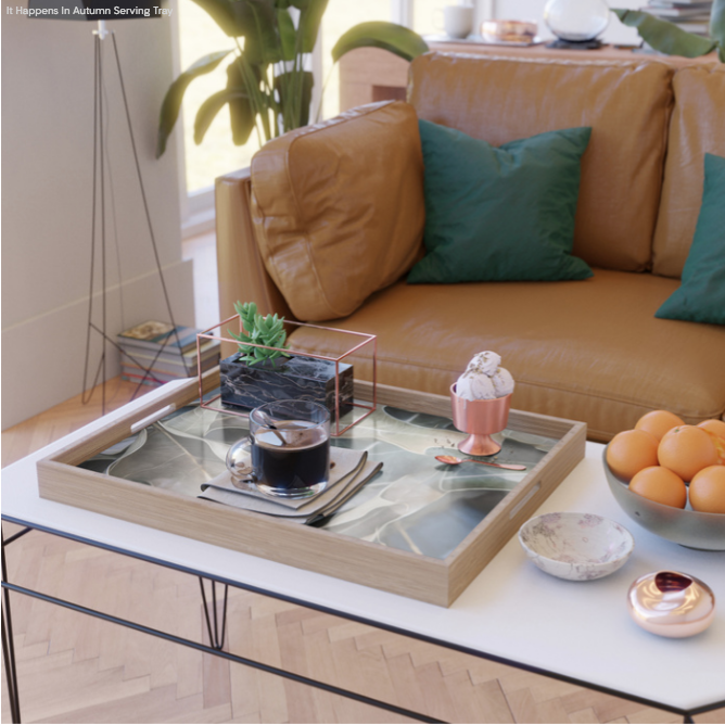 Serving trays - perfect as a coffee table platter, bathroom organizer or plant holder