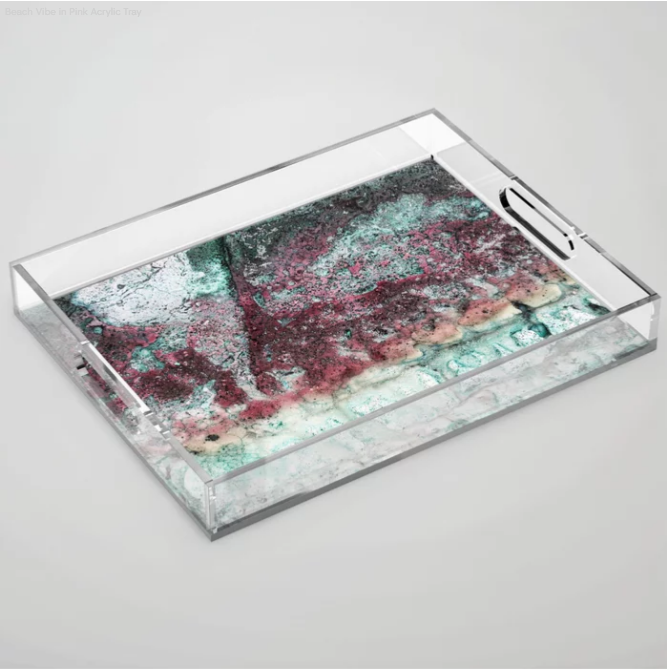 Acrylic Serving Trays - The difference is clear. My decorative acrylic trays offer a unique and transparent way to serve up some style. Use them to give your next dinner party a little something extra or for a pop of color as a kitchen accent. Available in two sizes.