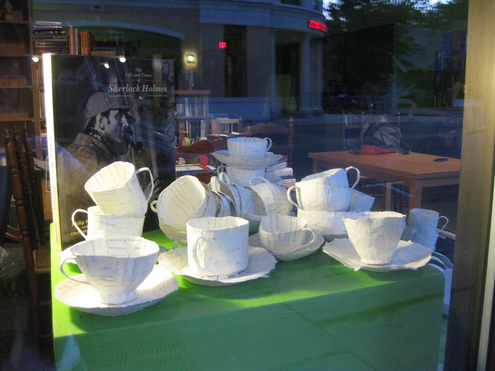 proud to have my teacups stand along with Sherlock Holmes