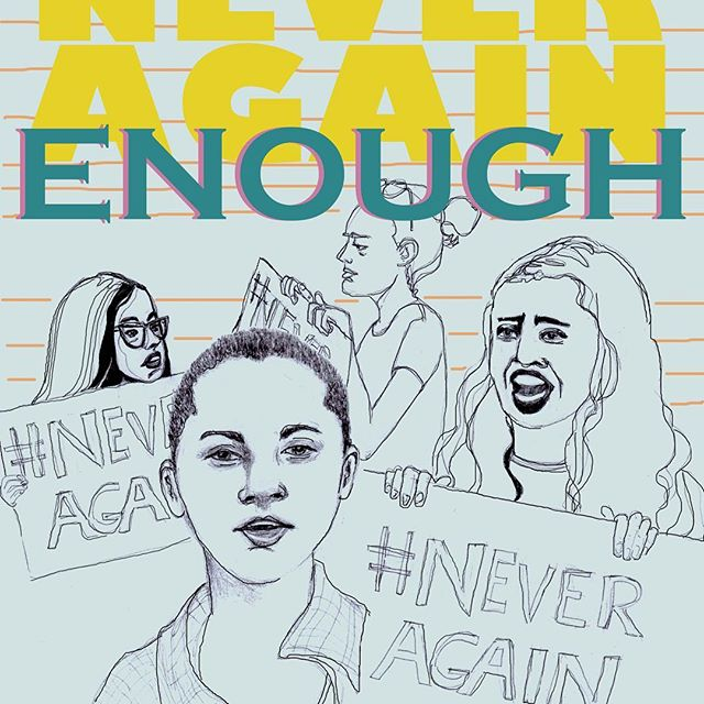 March For Our Lives.. support all those who are marching today ❤️ #marchforourlives #enough #neveragain #protectkidsnotguns #gunreformnow #stopgunviolence #powertothepolls