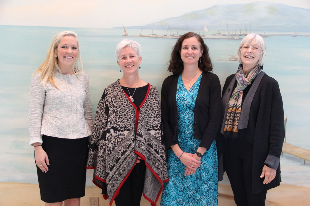 Meghan Jensen of the Water Council, Ann Brummitt of Milwaukee Water Commons, Karen Sands of Milwaukee Metropolitan Sewerage District, and Lynde Uihlein. Milwaukee's water community is very collaborative.