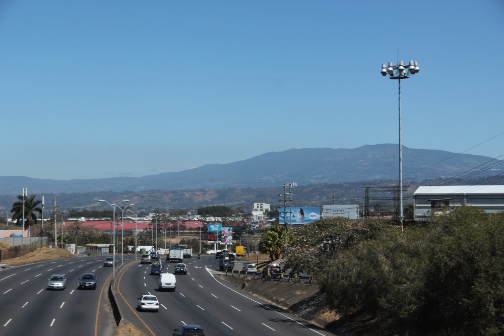 The Pan-American Highway outside  San José