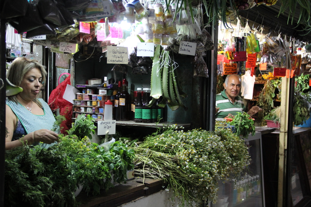 Herbs for sale in San Jose, Costa Rica's central market