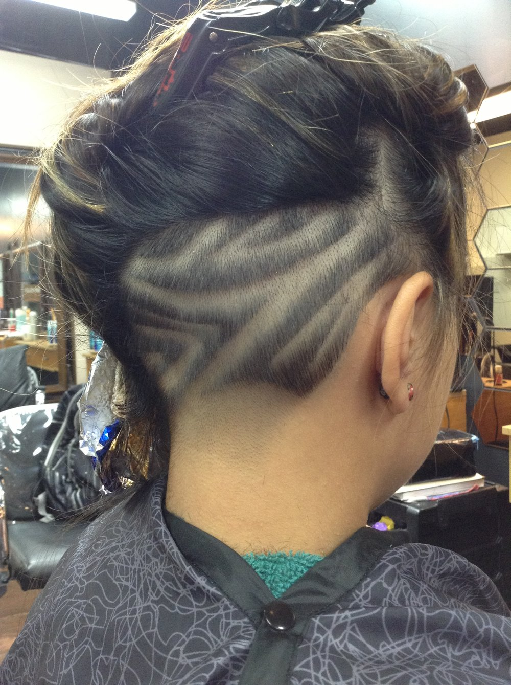 Free Hand Hair Graffiti  - These lines will make you look FUEGO!