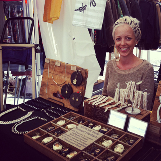 Dear Friends, I hope you will take a moment to read this short message that I write with a heavy heart today. One of my dearest pals, Jewelry and Clothing Designer, Angela Spencer, passed away on Sunday May 20th after a long battle with cancer. This upcoming Thursday evening, June 7th The folks at Treehouse in Williamsburg will be honoring Angie at a trunk show of her jewelry and clothing line, A.S.I.S., to raise money for her remaining expenses. Stop by Treehouse from 6:30 to 8:30pm to help us celebrate her life with cocktails and sweets and purchase some unique crocheted and macramed jewels, and silk shirts and tees printed with her beautiful lace designs - all for a very worthy cause. Also, if you are unable to join us but wish to contribute, you can donate on her Memorial Fund page. Treehouse Brooklyn 430 graham ave btw withers and frost brooklyn 11211 (718) 482-TREE (8733) http://www.treehousebrooklyn.com info@treehousebrooklyn.com Another Trunk Show is in the works at Foxy & Winston this Fall, where we'll be selling Angie's gorgeous Hats and Scarves, while serving hot cider and other treats so watch this space for news on that event! Thank you for reading Jane
