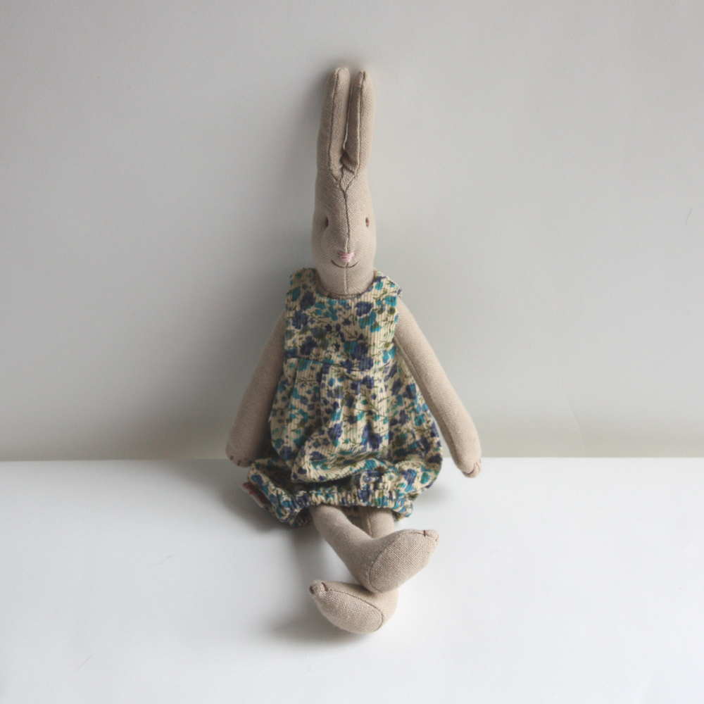 Medium Girl Bunny in Corduroy Frock.