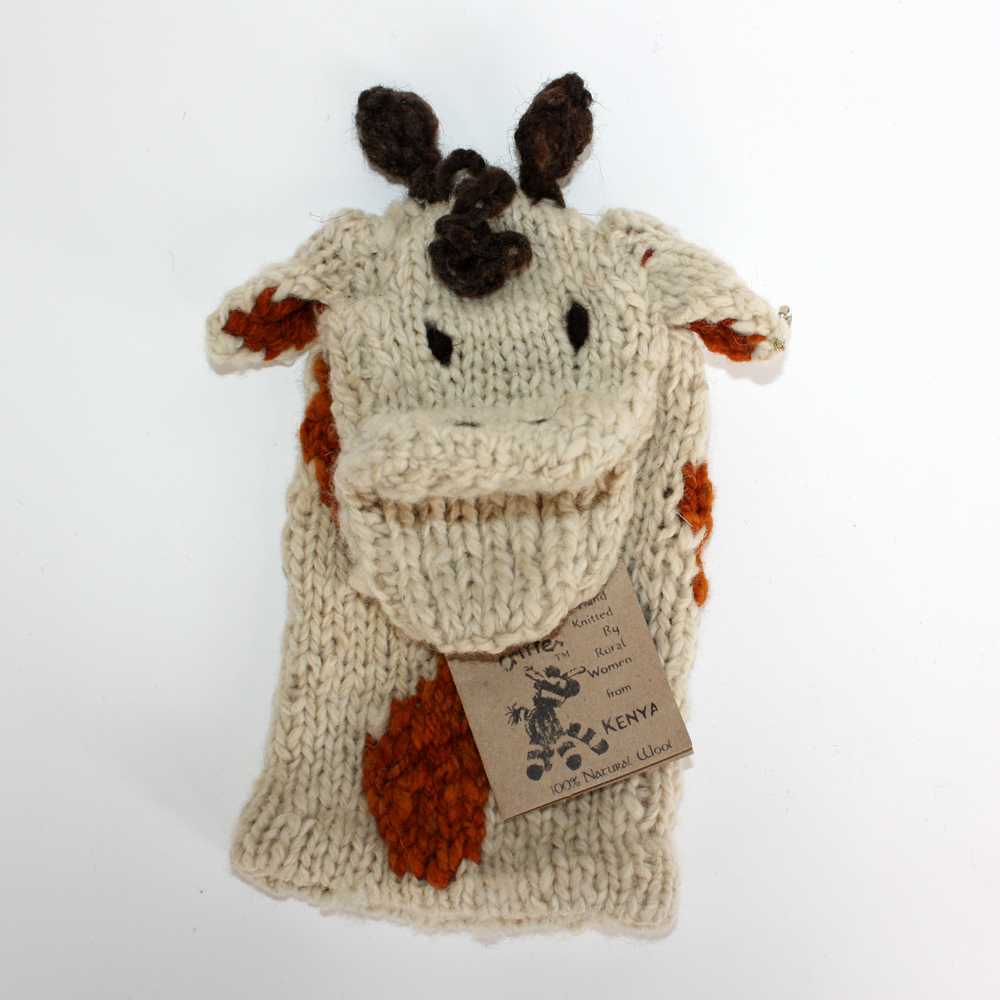 Kenyan Giraffe Glove Puppet