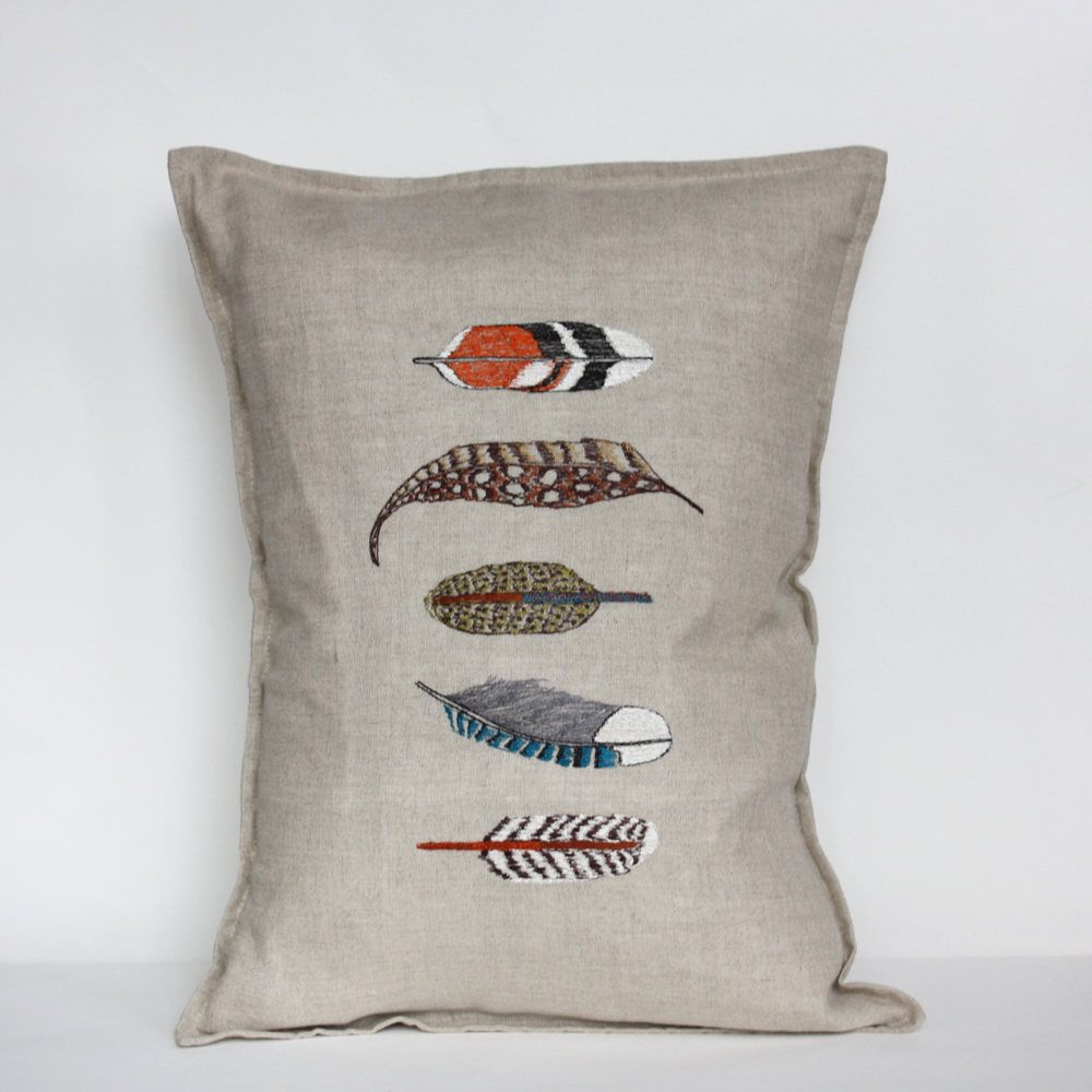 New from the talented Stephanie Housley.    This is my favorite new pillow in the shop right now from  Coral & Tusk
