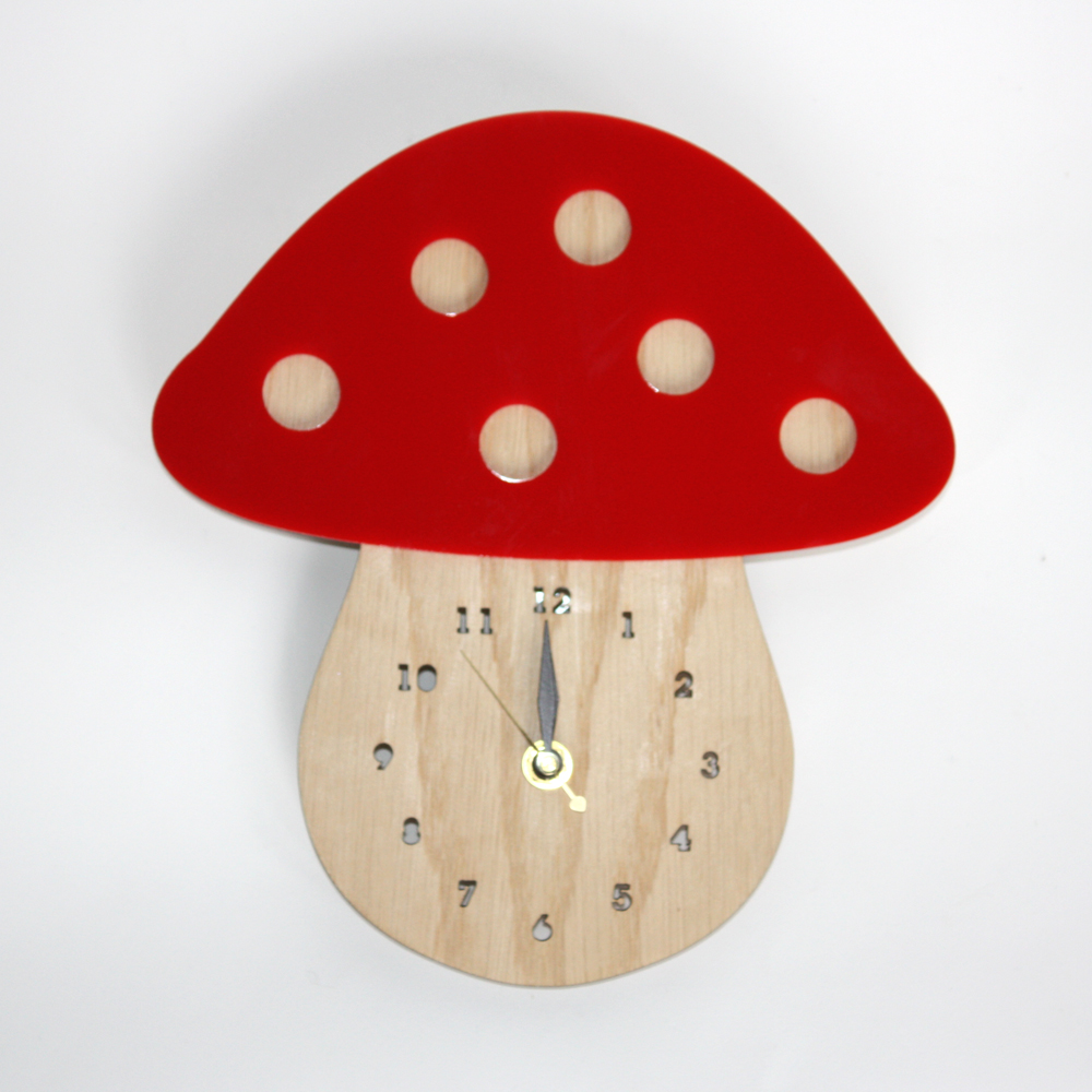 Woodland Wonders I normally carry a selection of bamboo animal clocks made in Kansas City, Missouri by Decoy Lab they are all quite lovely - ducklings,Bunnies,Owls,Hedgehogs and Elephants to name a few, but this new Toadstool is my current favorite!
