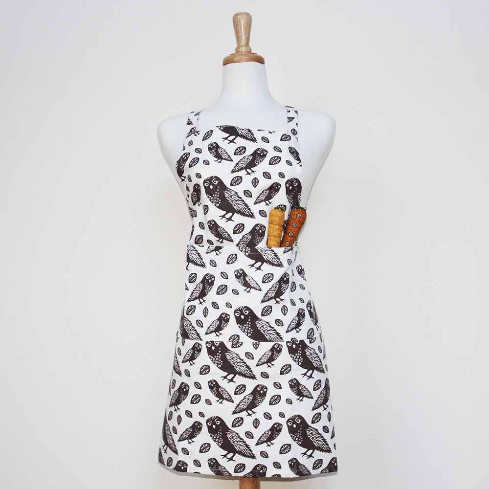 Organic Cotton Canvas Owl Apron