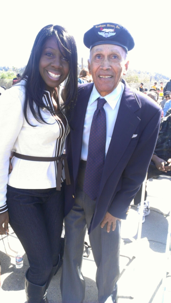 With Mr Alfonso Harris, Tuskegee Airman
